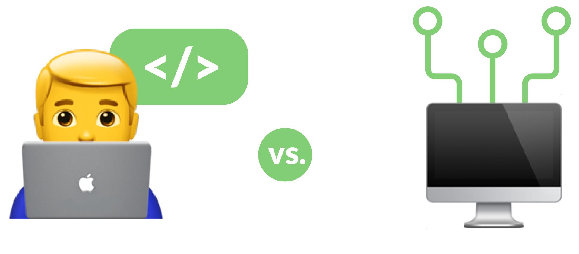 Data integration: hand code vs tool-based integration.