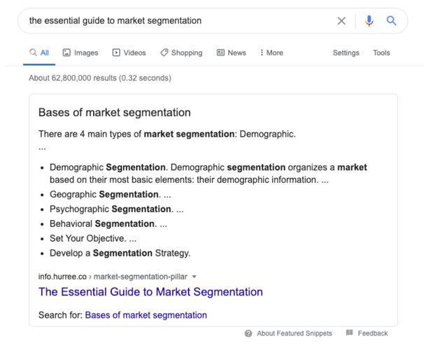 google-search-market-segmentation