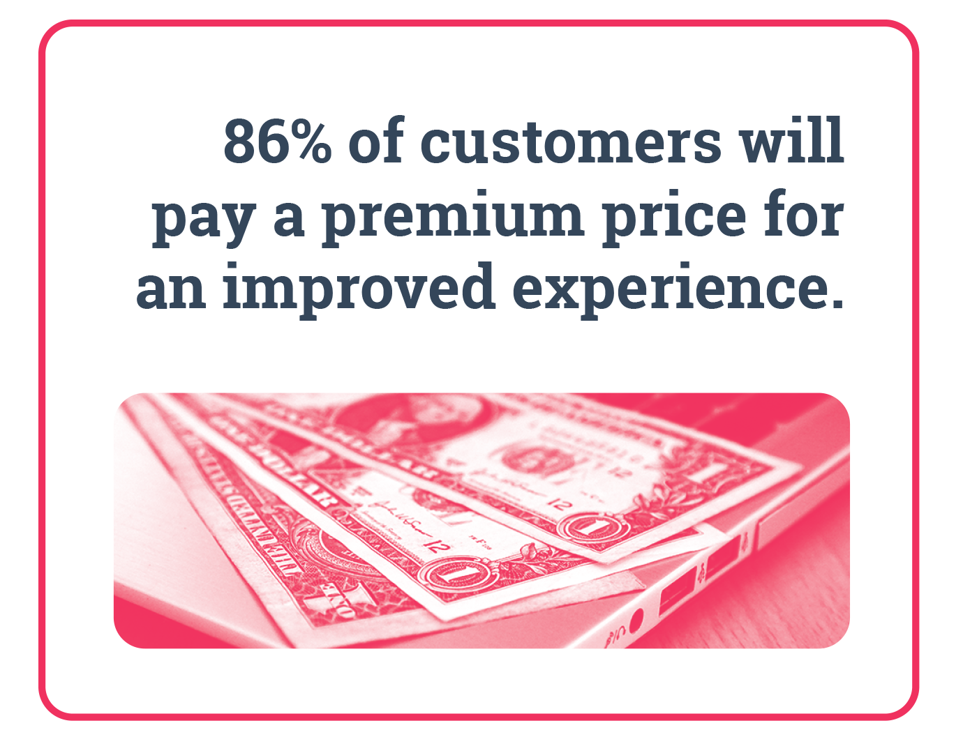 86% of customers will pay a premium price for an improved experience. Data Integration.